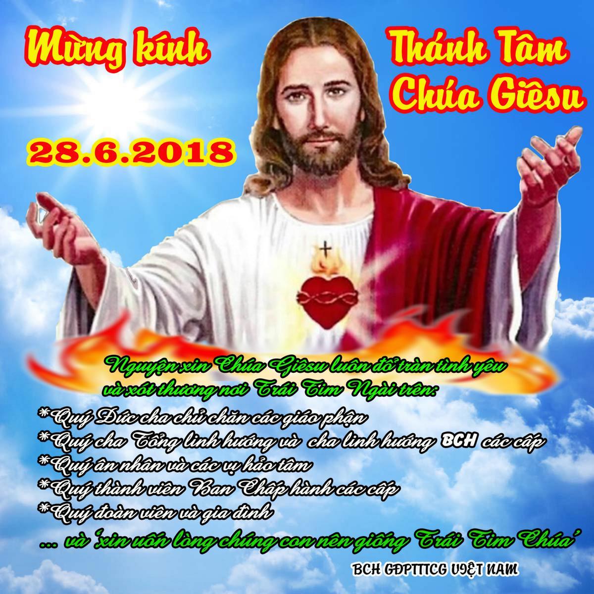 Mừng kính Thánh Tâm Chúa Giêsu 2019